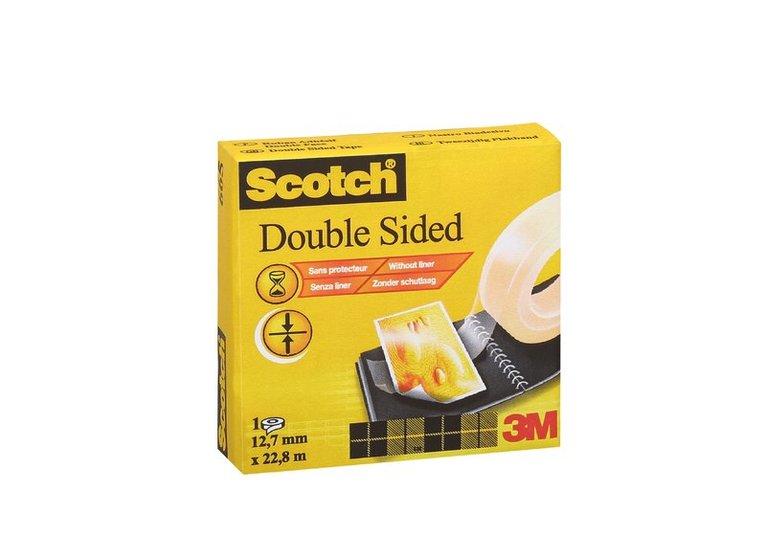Tejp Scotch dubbelhäftande 22,8m x 12,7mm transparent 1