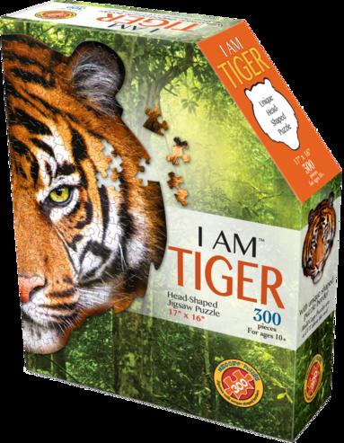 Pussel 300 bitar Head shaped - I am Tiger 1
