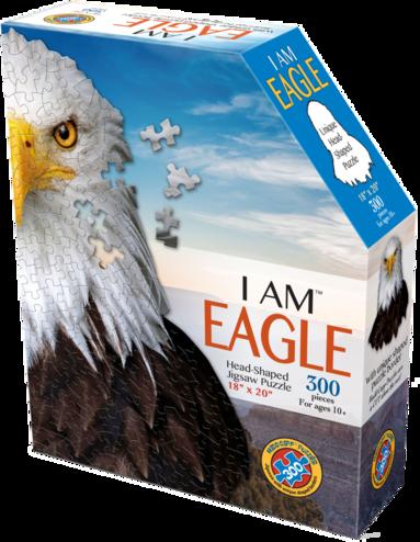 Pussel 300 bitar Head Shaped - I am Eagle 1