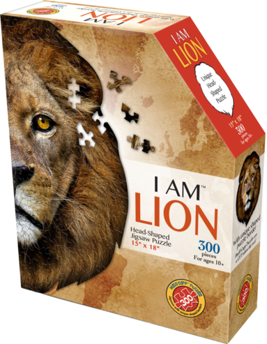 Pussel 300 bitar Head Shaped - I am Lion 1