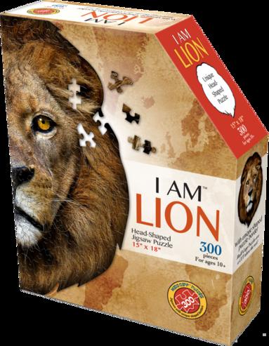 Pussel 300 bitar Head Shaped - Lion