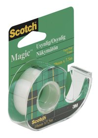 Tejp Scotch Magic med hållare 7,5m x 19mm transparent