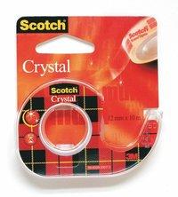 Tejp Scotch Crystal m hållare 10mx12mm