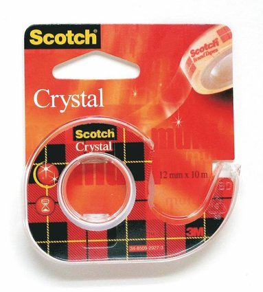 Tejp Scotch Crystal med hållare 10m x 12mm transparent