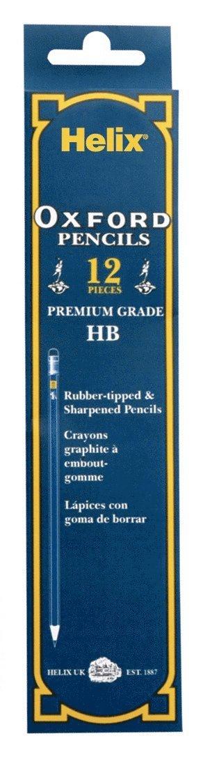 Blyertspenna HB Oxford med radertopp 12-pack