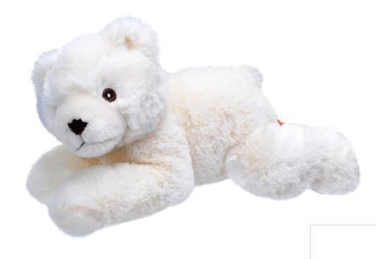 Mjukdjur isbjörn Ecokins 25cm 1