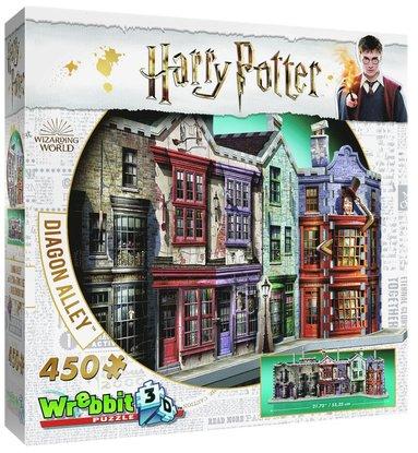 Pussel 450 bitar 3D Harry Potter Diagon Alley 1