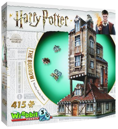 Pussel 415 bitar 3D Harry Potter The Burrow Weasley Family Home 1
