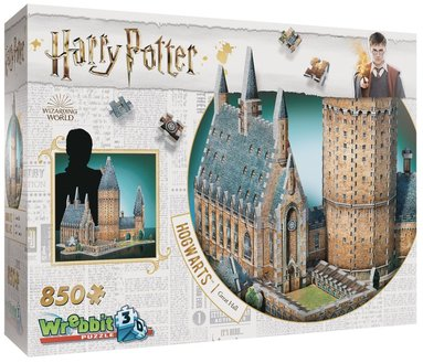 Pussel 850 bitar 3D Harry Potter Hogwarts Great Hall