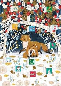 Adventskalenderkort Paw Prints In The Snow