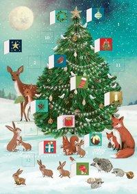 Adventskalenderkort Festive Forest Tree