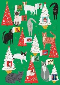 Adventskalenderkort Fabulous Felines