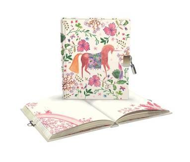Dagbok m hänglås Magical Unicorn