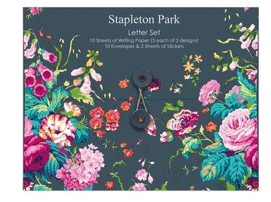 Brevpapper kuvert och klistermärken Stapleton Park