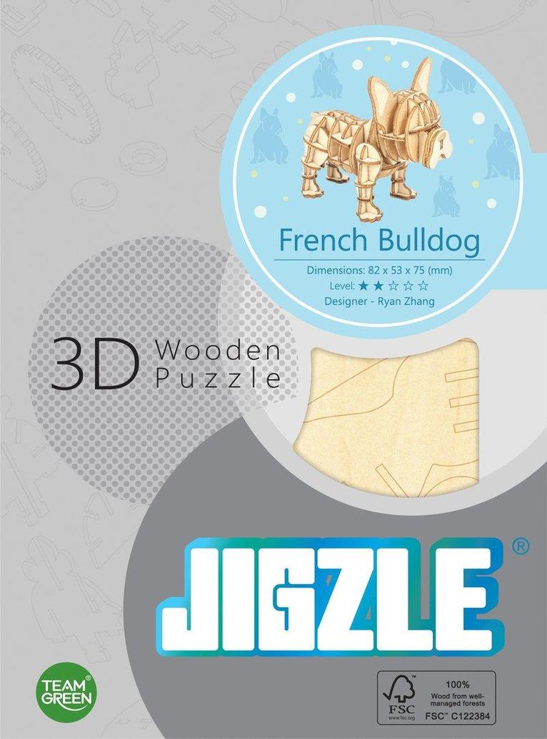 Byggsats trä fransk bulldog 1