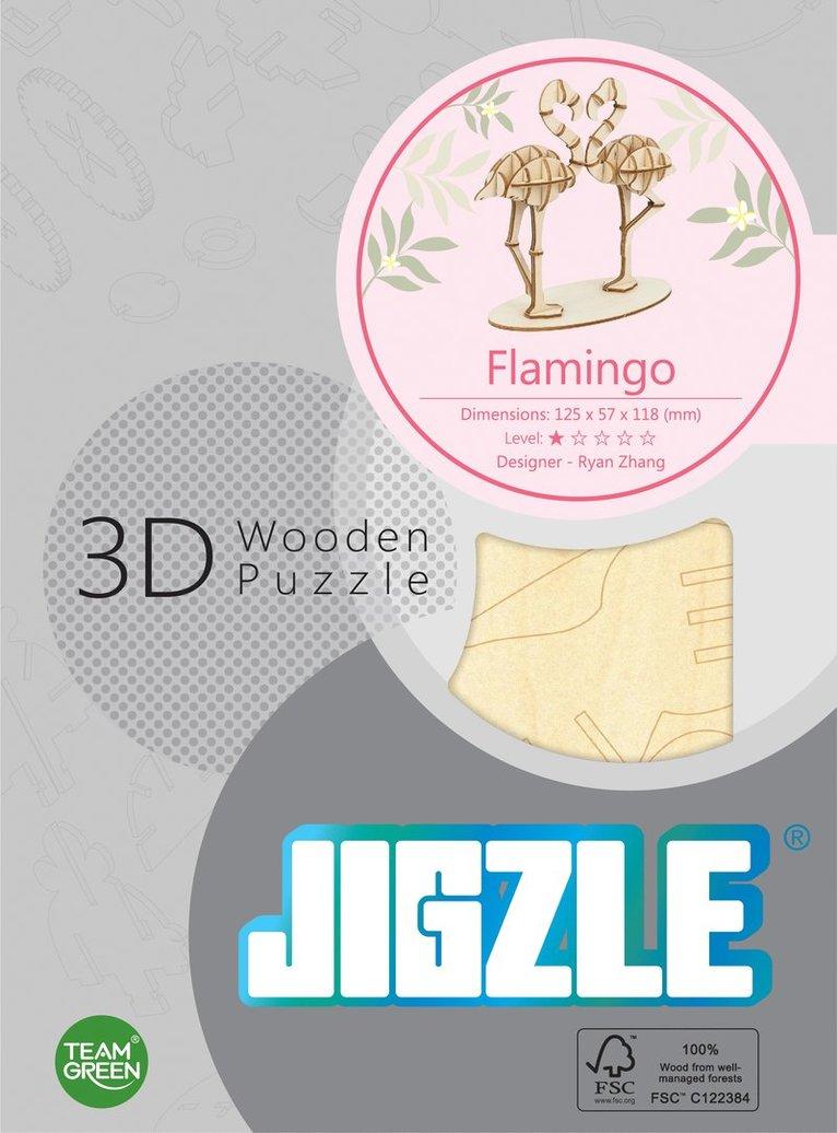 Byggsats trä flamingo 1