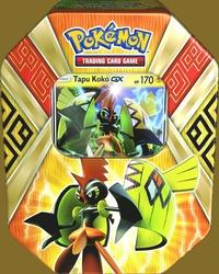 Samlarkort Pokémon Island Guardians plåtask