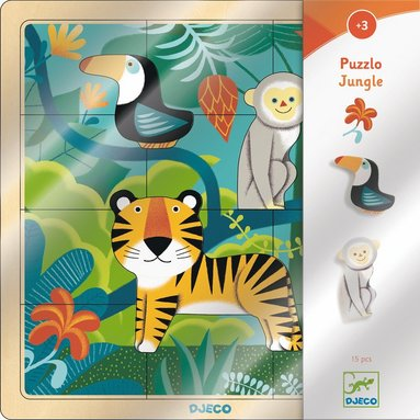Pussel 15 bitar djungel