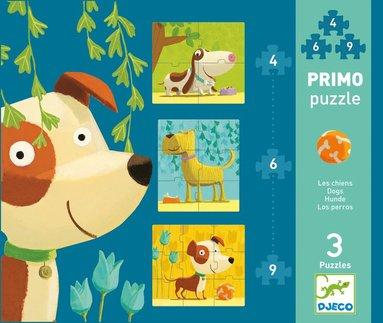 Pussel 4+6+9 bitar Primo hundar 3-pack 1
