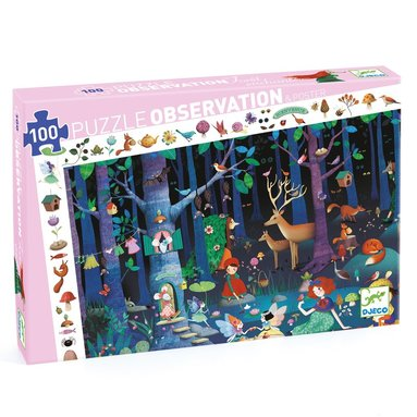 Pussel 100 bitar Enchanted Forest