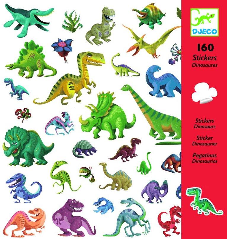 Klistermärken dinosaurier 160st 1