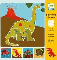 Schablon dinosaurier
