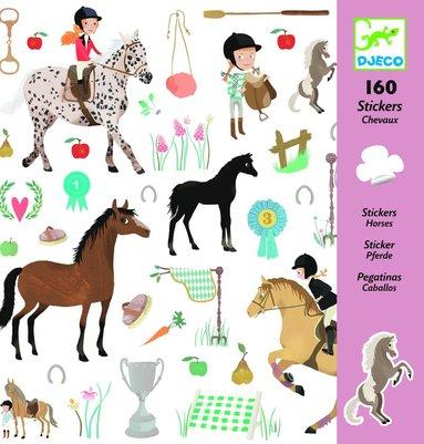 Klistermärken med hästar