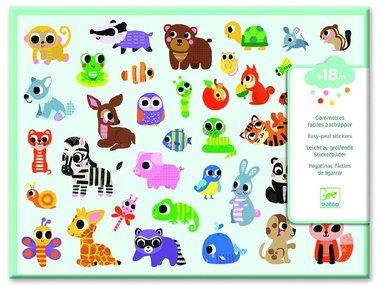 Klistermärken djurungar