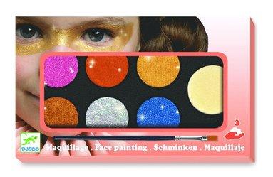 Ansiktsfärg 6 färger Metallic