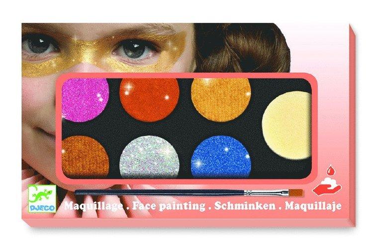 Ansiktsfärg 6 färger Metallic 1