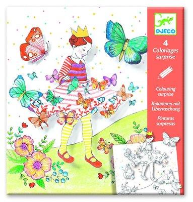 Färgläggning Lady Butterfly
