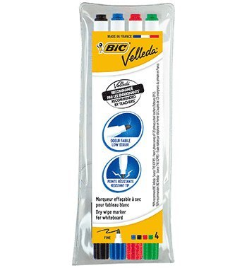 Whiteboardpenna Bic Velleda 4 färger