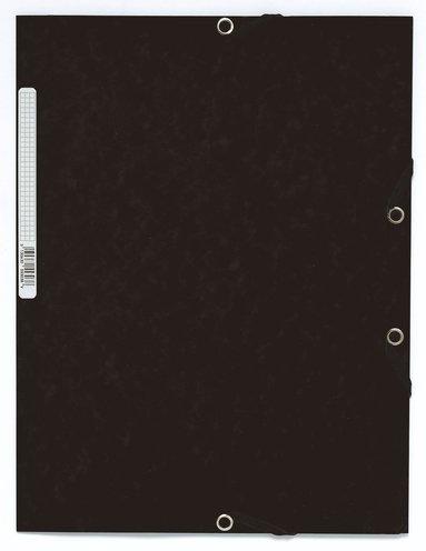 Gummibandsmapp A4 kartong svart 1