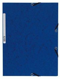 Gummibandsmapp A4 kartong blå