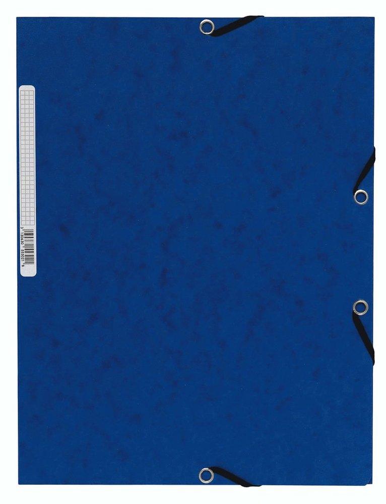 Gummibandsmapp A4 kartong blå 1
