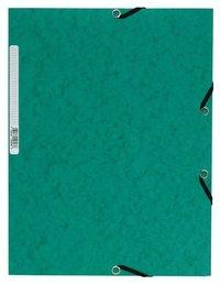 Gummibandsmapp A4 kartong grön