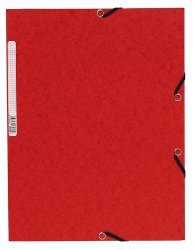 Gummibandsmapp A4 kartong röd