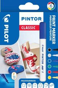 Märkpenna Pilot Pintor Classic F 6 färger