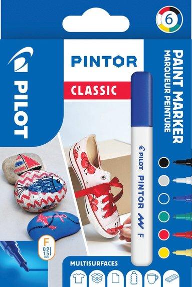 Märkpenna Pilot Pintor Classic F 6-pack