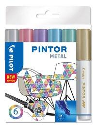 Märkpenna Pilot Pintor Metal M 6-pack