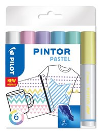 Märkpenna Pilot Pintor Pastel M 6-pack