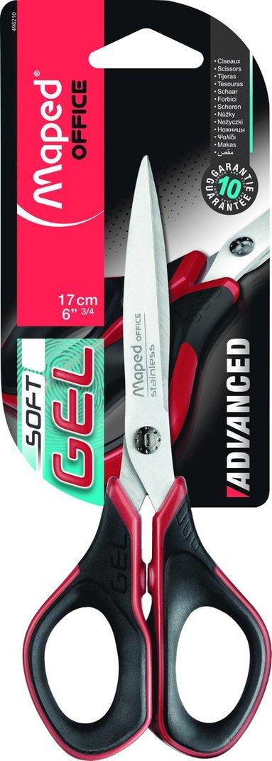 Sax 17cm Maped Advanced Gel svart/röd 1