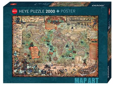 Pussel 2000 bitar Pirate World 1