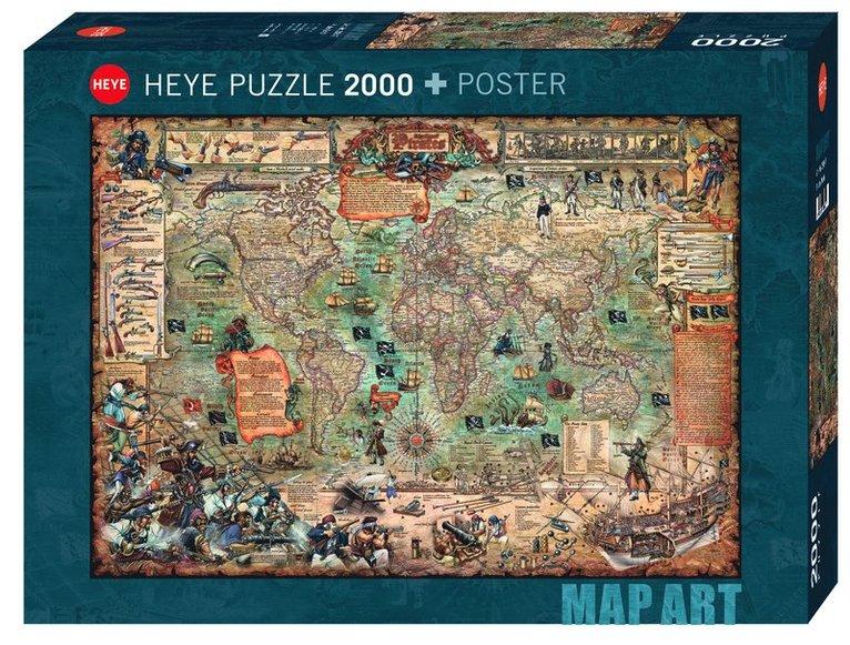 Pussel 2000 bitar Pirate World 1