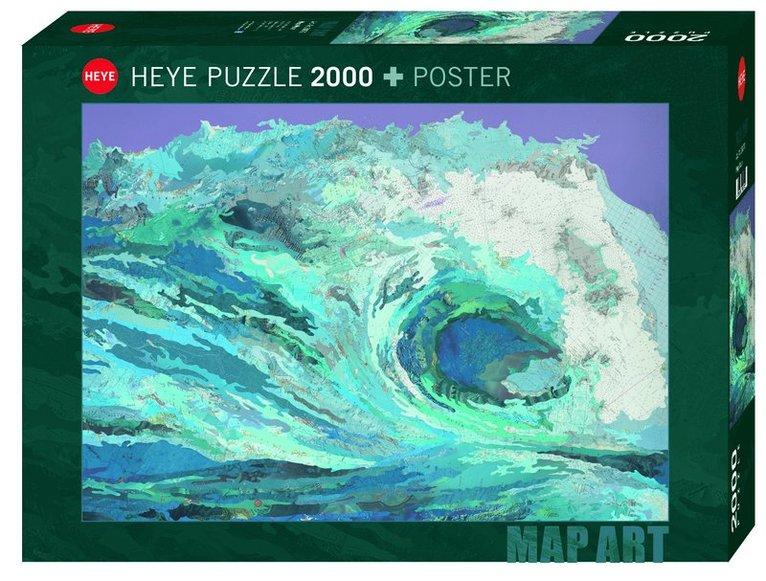 Pussel 2000 bitar Fine Art Map Wave 1