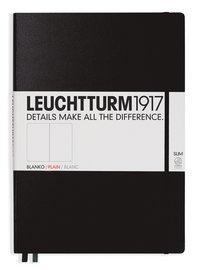 Anteckningsbok Leuchtturm A4+ Slim olinjerad svart