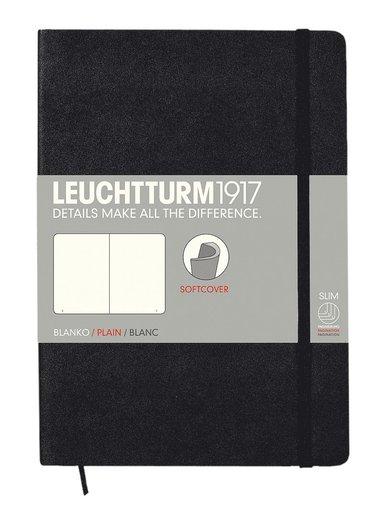 Anteckningsbok A5 Leuchtturm1917 olinjerad mjuk svart
