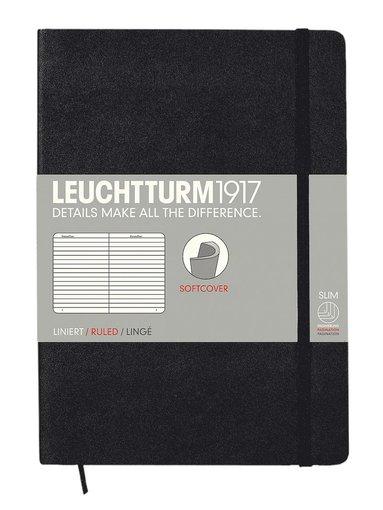 Anteckningsbok Leuchtturm1917 A5 linjerad mjuk svart