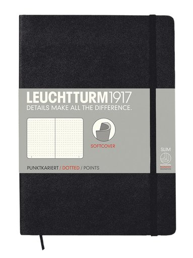 "Anteckningsbok ""Bullet Journal"" Leuchtturm A5 prickad mjuk svart"