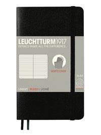 Anteckningsbok Leuchtturm1917 A6 linjerad mjuk svart